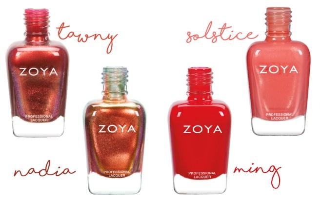 Zoya Party Girls - Tawny - Nadia - Solstice - Ming