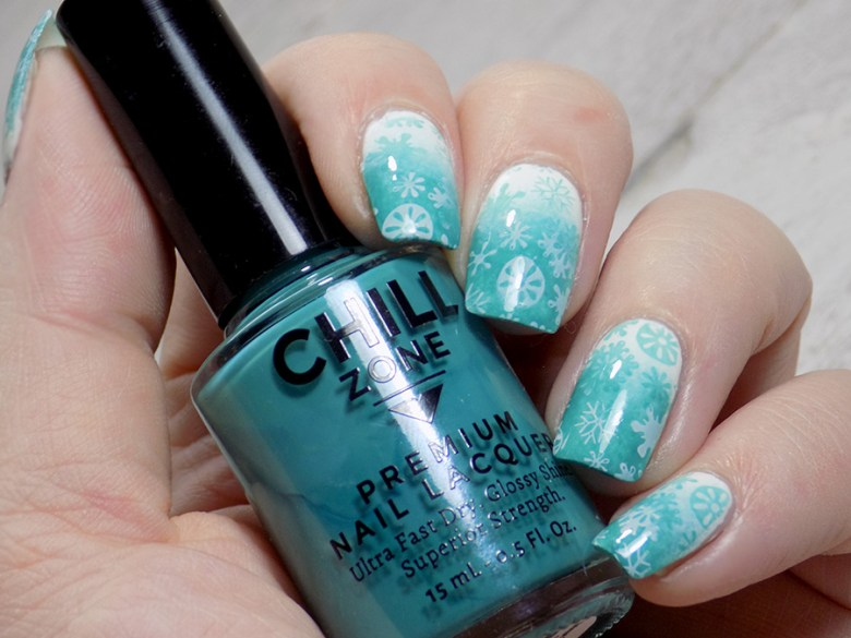 Chill Zone Nail System Review: Snowflake Nails Using Coconut Cream Tart and the Beaches of Turks and Caicos