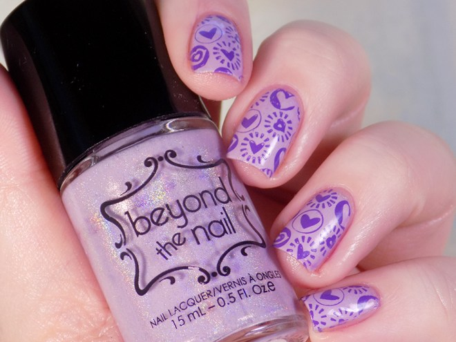 Beyond The Nail Flowing Unicorn Mane Valentines Day Nail Art Swatch and Review