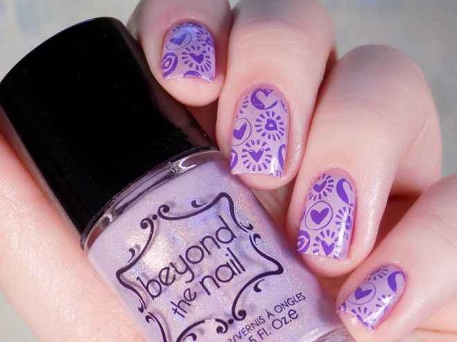 Beyond The Nail Flowing Unicorn Mane Valentines Day Nail Art Swatches