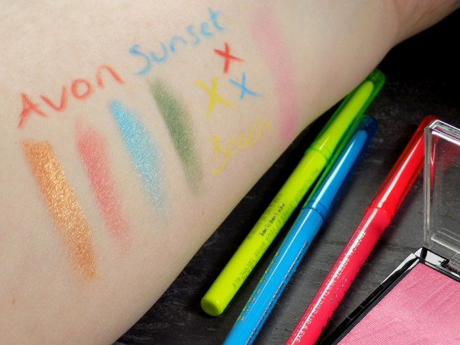 Avon True Color Sunset Beach and Tropical Breeze Swatches Review