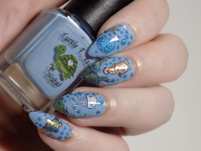 Sea Creature Nail Art CBBxManiMonday July 23 swatch