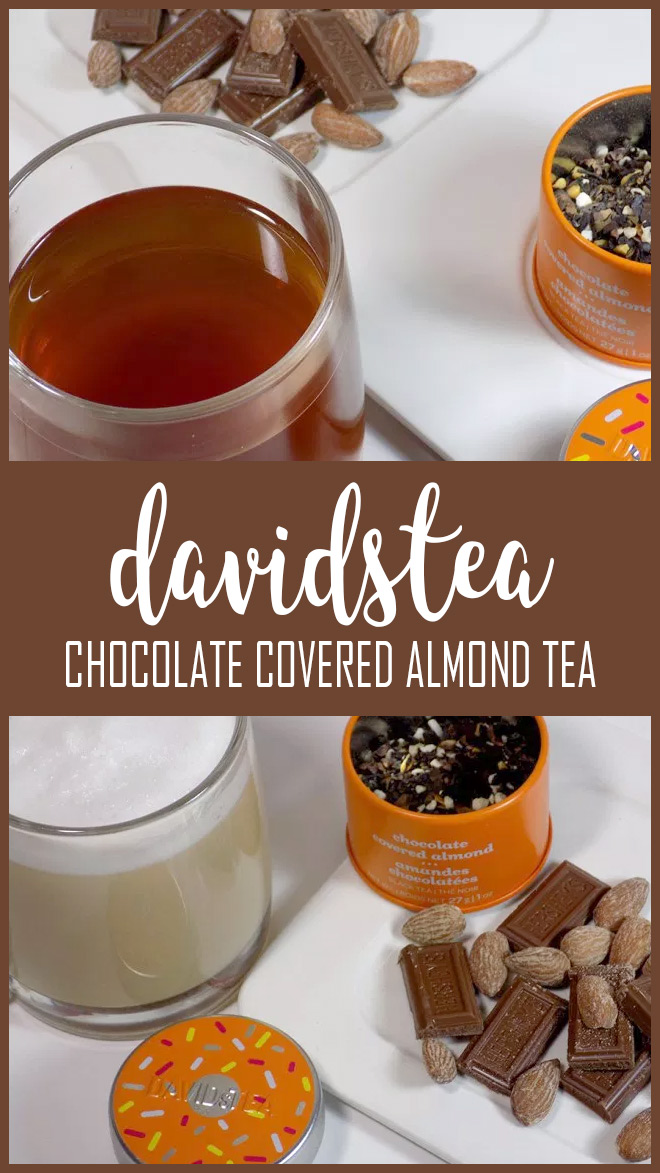 DAVIDsTEA Chocolate Covered Almond Tea Review PIN