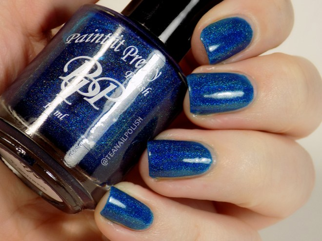 Paint it Pretty Polish Midnight Sparkle - Swatches in Artificial Lighting
