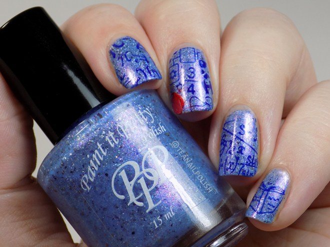 Paint it Pretty Polish Was Summer A Dream - with Back to School Nail Stamping