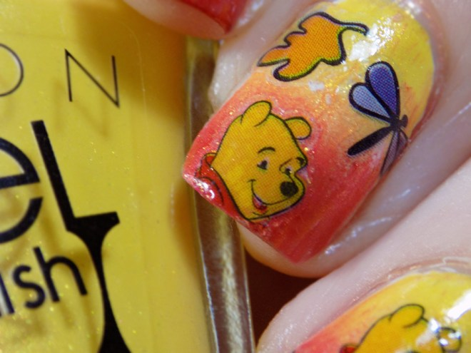 Pooh Bear Nail Art Kiss Stickers Review
