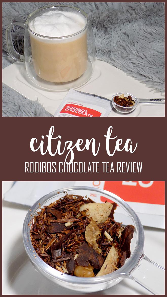 Citizen Tea Rooibos Chocolate Tea Review - Latte - Steeping - Ingredients