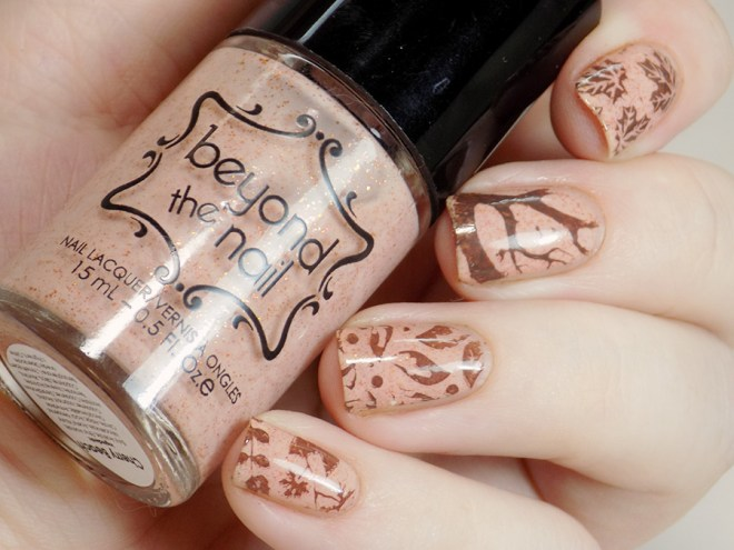Fall Nails with Beyond the Nail Cherry Beach and MdU Chocolate 2