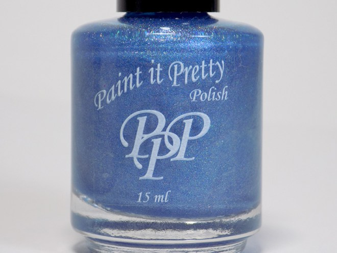 Paint it Pretty Polish Out of The Blue Holo Polish Bottle