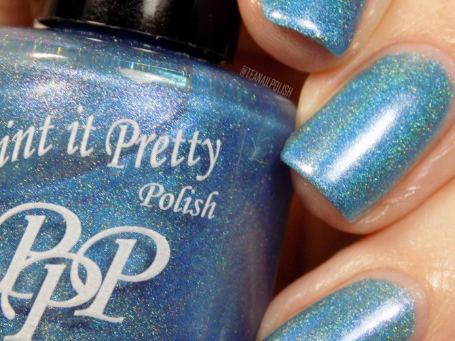Paint it Pretty Polish Out of The Blue Holo Polish Macro Swatch