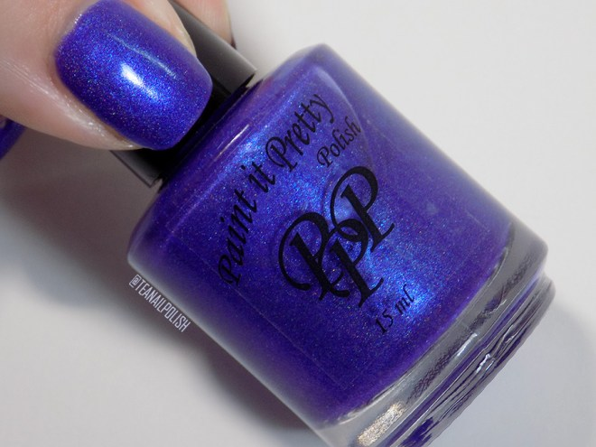 Paint it Pretty Purple Thunder Holo Polish - Bottle Thumb