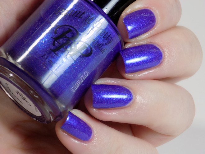 Paint it Pretty Purple Thunder Holo Polish - Swatch in Artificial Light