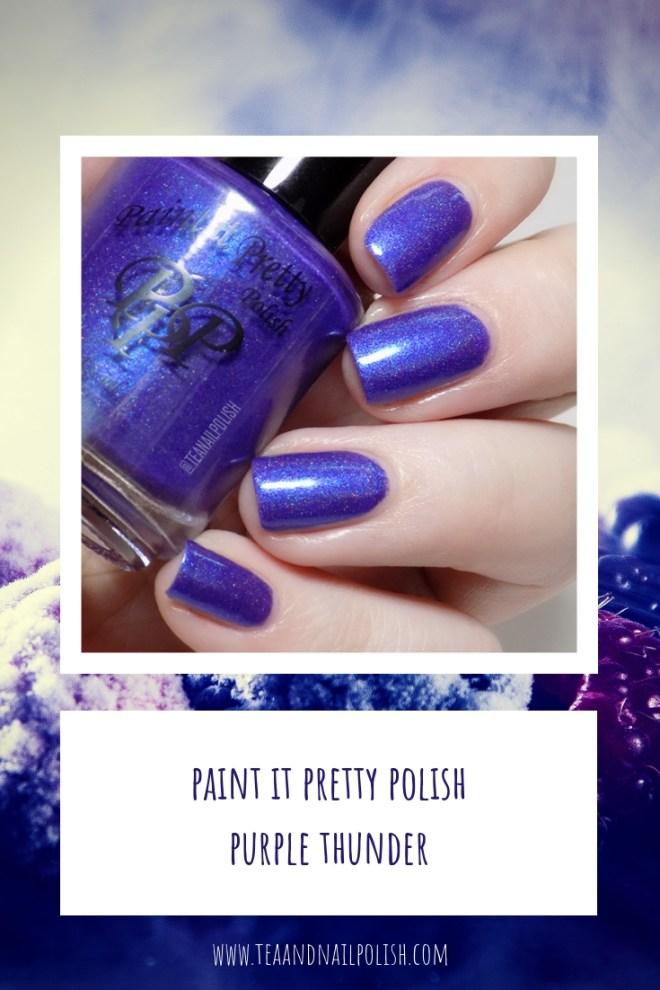 Paint it Pretty Purple Thunder Holo Polish Swatches