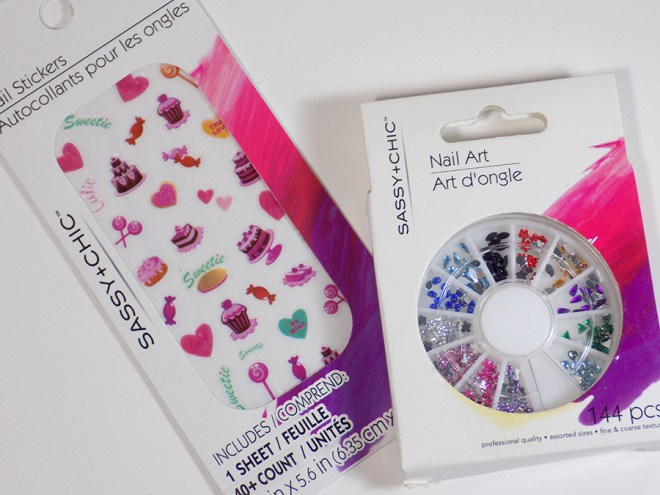Sassy+Chic Nail Art Nail Stickers and Jewels at Dollar Tree Reviews