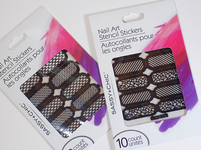 Sassy+Chic Nail Art Stencil Stickers Review