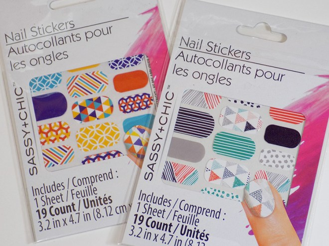 Sassy+Chic Nail Art Wraps Stickers at Dollar Tree Review