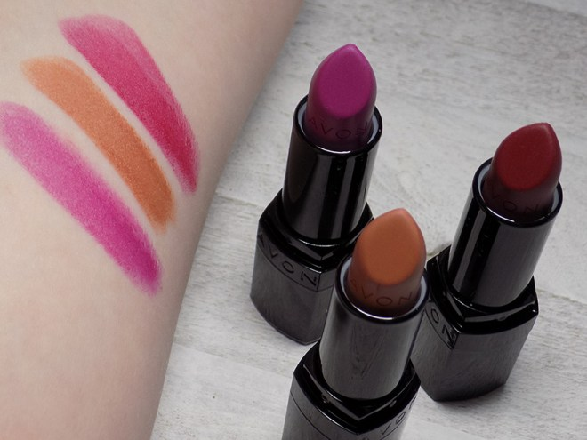 Avon Top Shades For Fall - The Mattes - Hot Plum -Marvelous Mocha - Wild Cherry