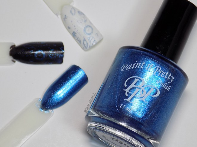 Paint it Pretty Polish Winter to my Wonderland -- Metallic Holiday Collection 2018 - Bottle Stamp Test