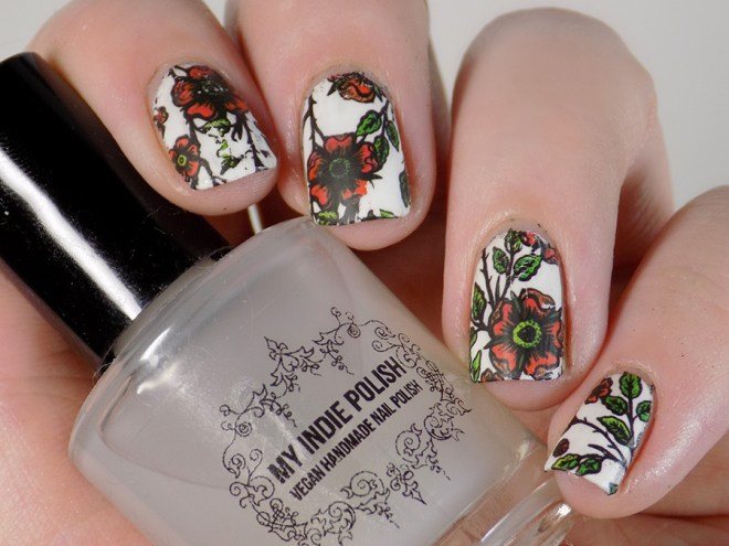 Remembrance Day Nail Art Poppy Nail Decals BPY40 flower waterslide decals