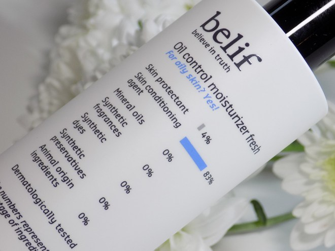 belif oil control moisturizer fresh review