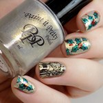 Holly and Deer Christmas Manicure CBBxManiMonday Swatches