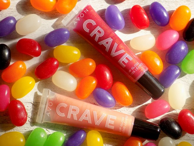 Avon Crave Lip Glosses Reviews - Citrus Sangria - Cherry Creamsicle