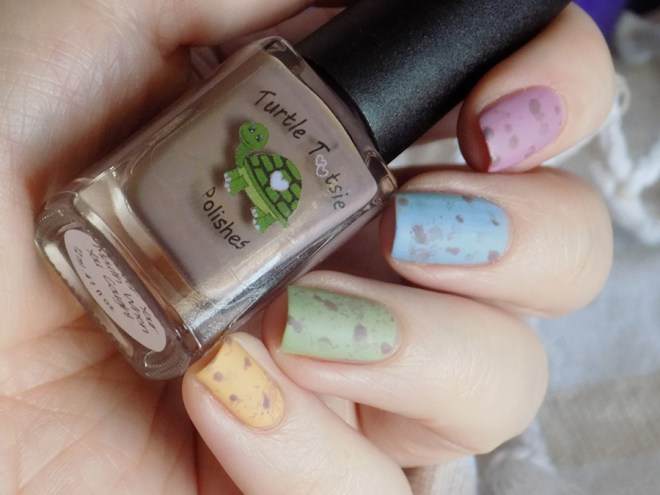 Mini Eggs Nail Art CBBxManiMonday Easter Nail Art - Turtle Tootsie Pet Peeves Matte