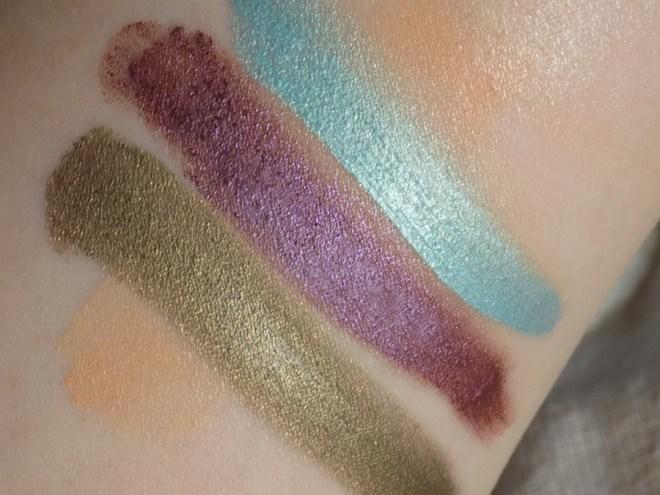 Almay Velvet Foil Eyeshadow Swatches