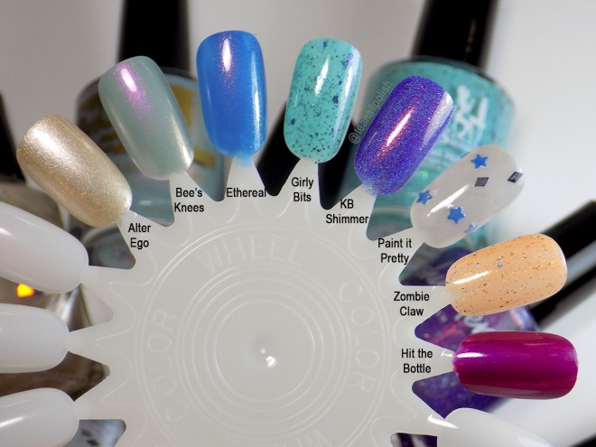 Indie Expo Canada 2019 VIP Bag Polishes Swatches