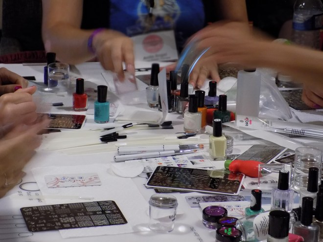 Stamping Tutorial Table at Indie Expo Canada