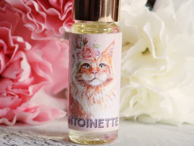 Death and Floral Cat Customs Indie Perfume Review - Antoinette
