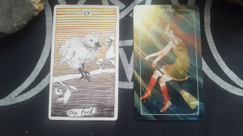 The Fool tarot comparisons