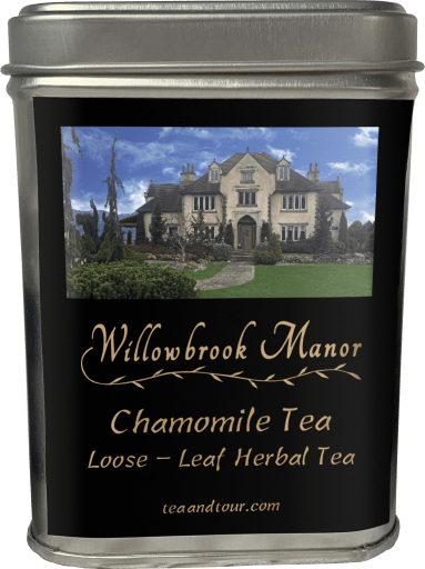 Large tin of chamomile tea