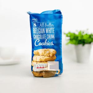 M&S Cookies Belgian White Choc