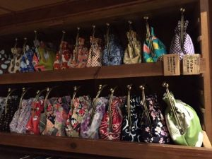 "Japanese pretty purses ""Gamaguchi"" in Kyoto"