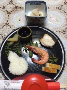 Japanese light meal at home
