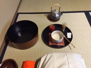 Japanese tea set box