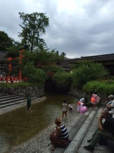 fireflies in the river Kyoto
