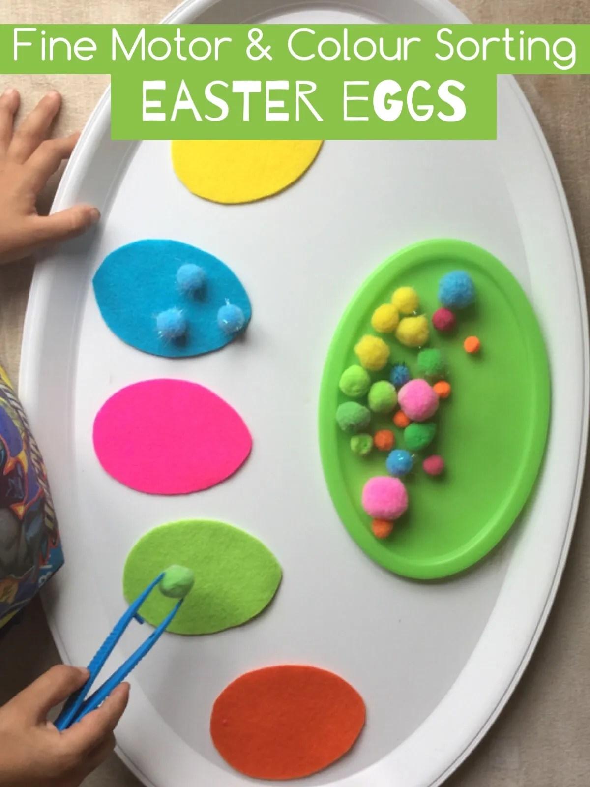 Fine Motor Amp Colour Sorting Eggs