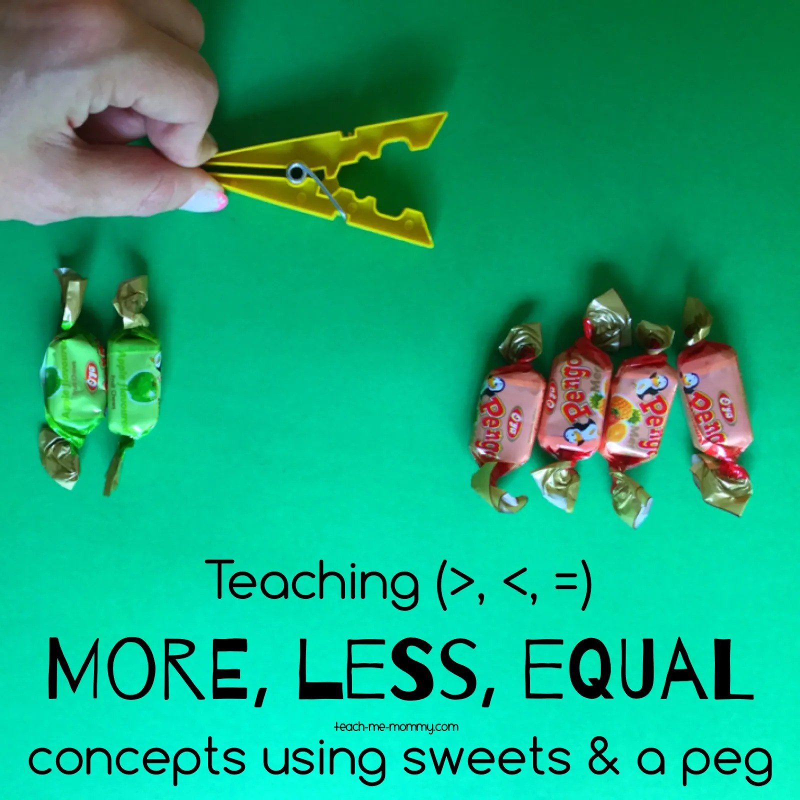 More Less Equal With Sweets Amp Peg