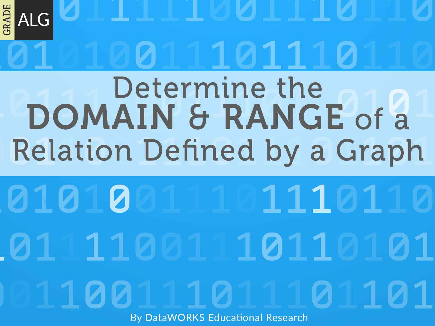 Determine The Domain And Range Of A Relation Defined By A