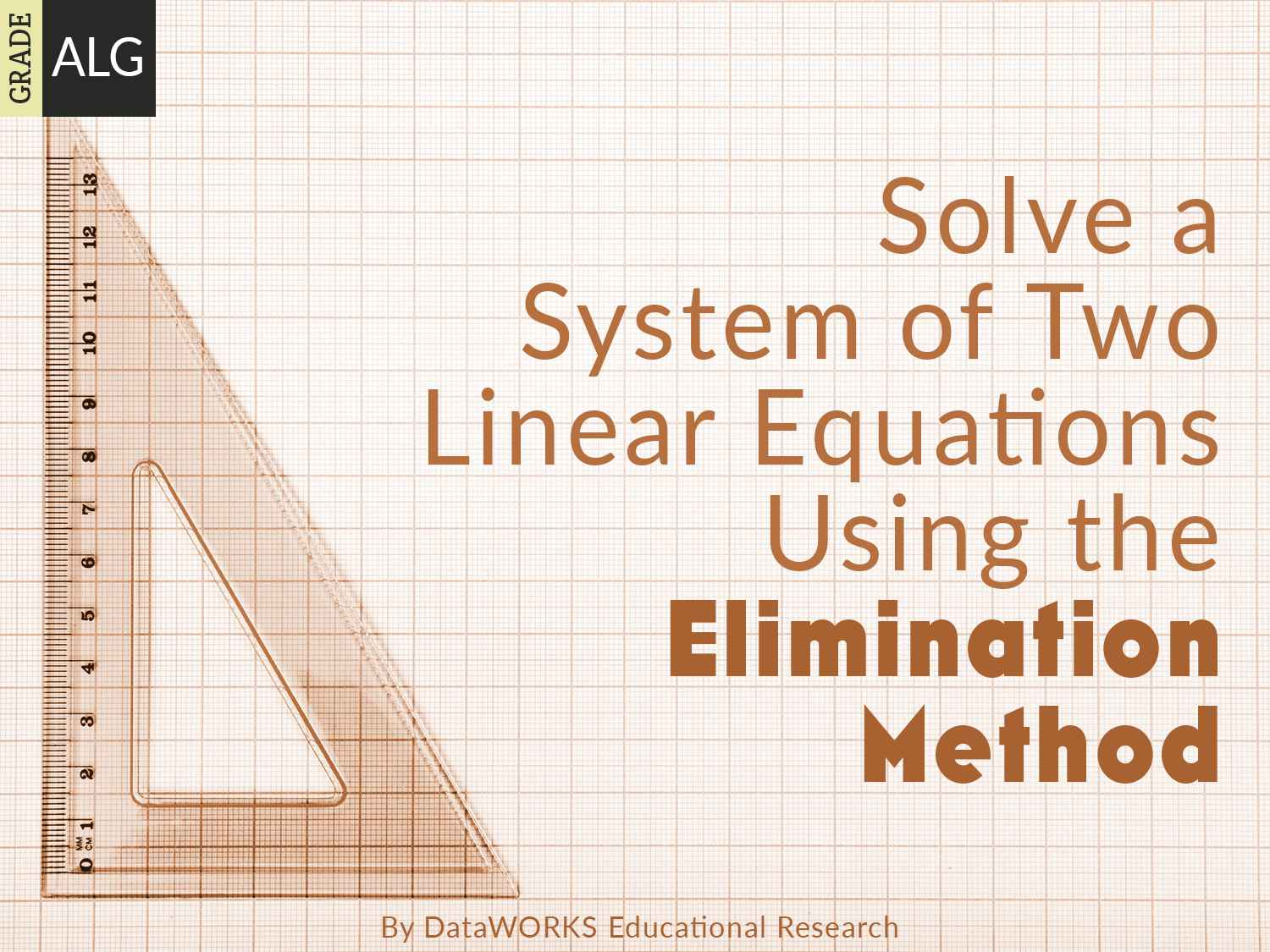 Solve A System Of Two Linear Equations Using The