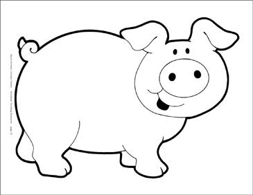 Картинки по запросу pig b&w