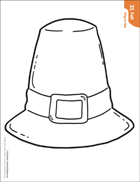 Pilgrim Hat Pattern Activities Printable Lesson Plans And Ideas Arts And Crafts