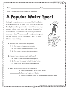 A Popular Water Sport Close Reading Passage