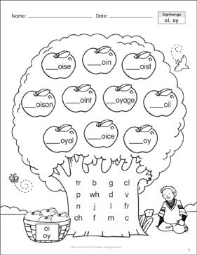 Diphthong Oi Oy Phonics Tree