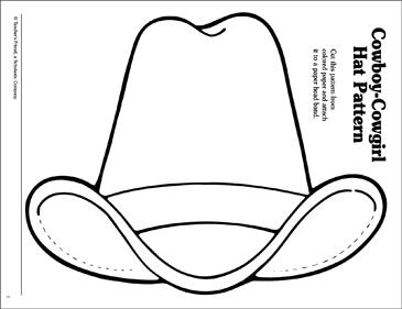 cowboy hat pattern # 8