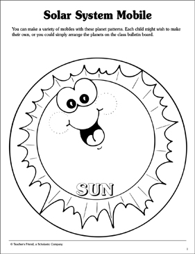 Solar System Mobile | Printable Craftivities and Skills Sheets