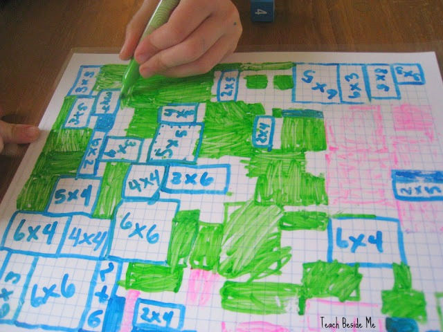 Array Multiplication Grid Game with Graph Paper – Teach Beside Me