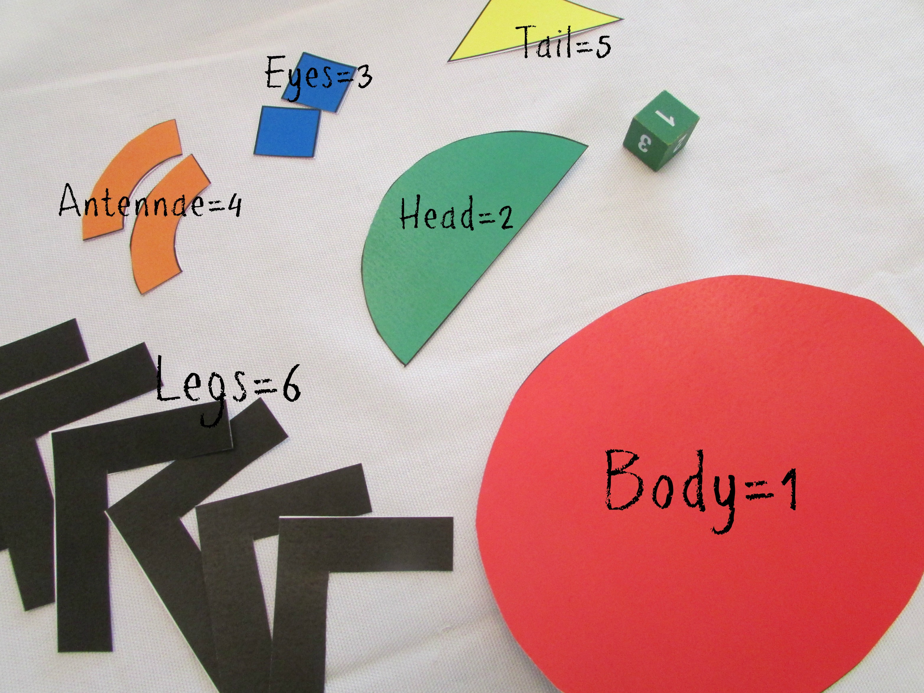 Roll A Beetle Dice Math Game